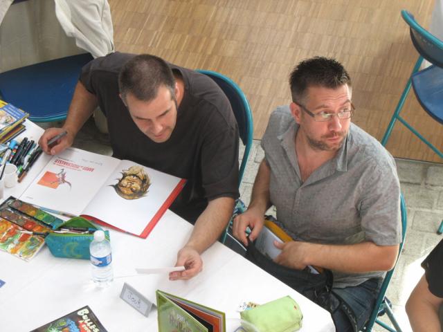 Olivier Supiot et Tony Emeriau en dédicace