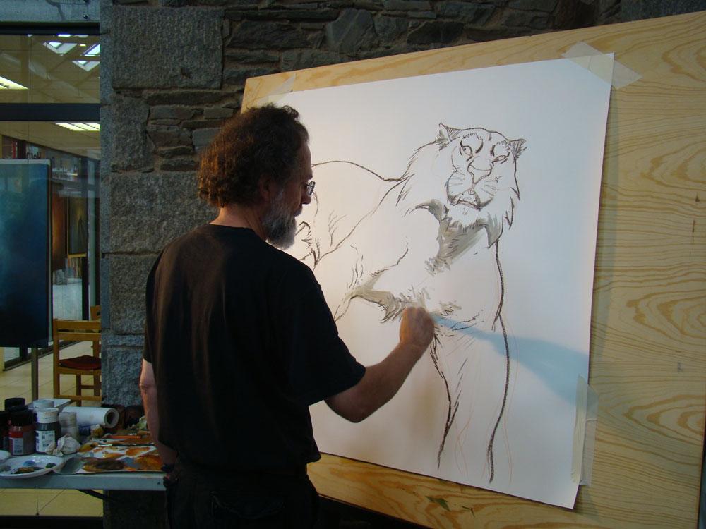 Frank Pé à l'œuvre