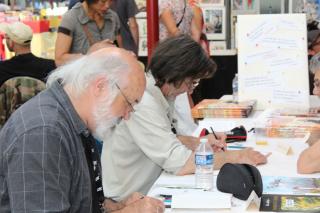 Alain Goutal et Daniel Brecht en dédicace