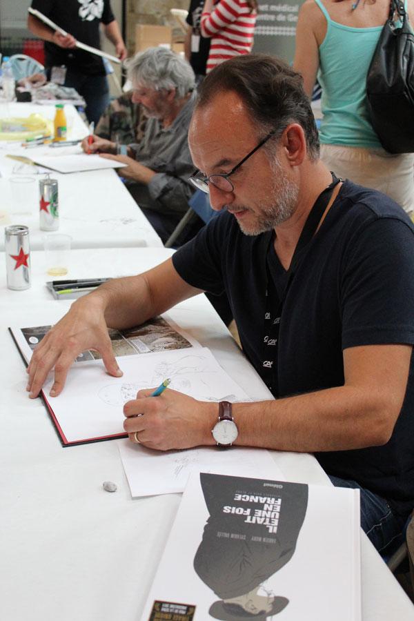 Sylvain Vallée en dédicace