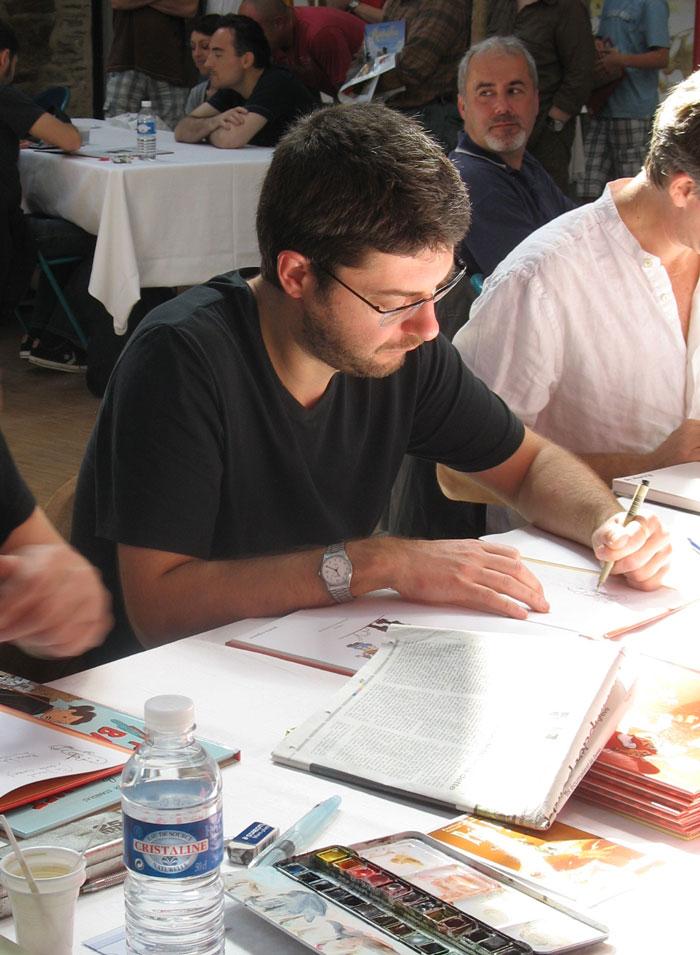 Laurent Bordier en dédicace