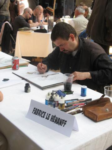Fabrice Le Henanff en dédicace