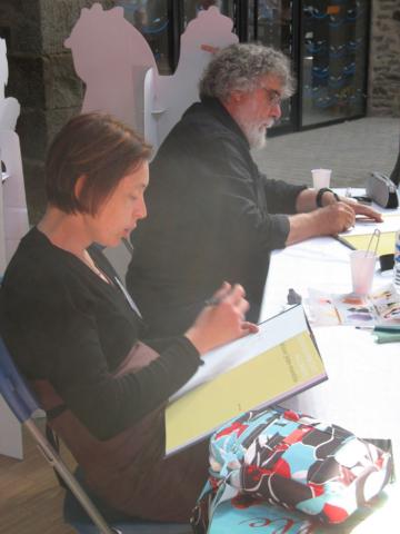 Fanny Montgermont et Jean-Claude Fournier en dédicace