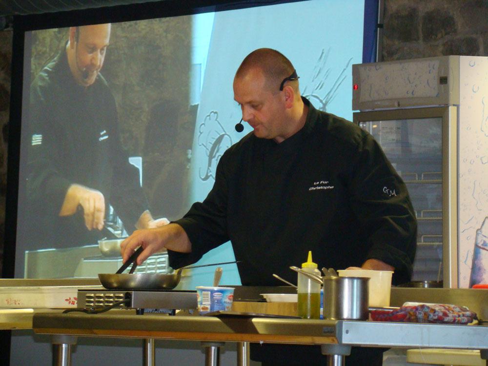 Démonstration culinaire par Christophe Le Fur