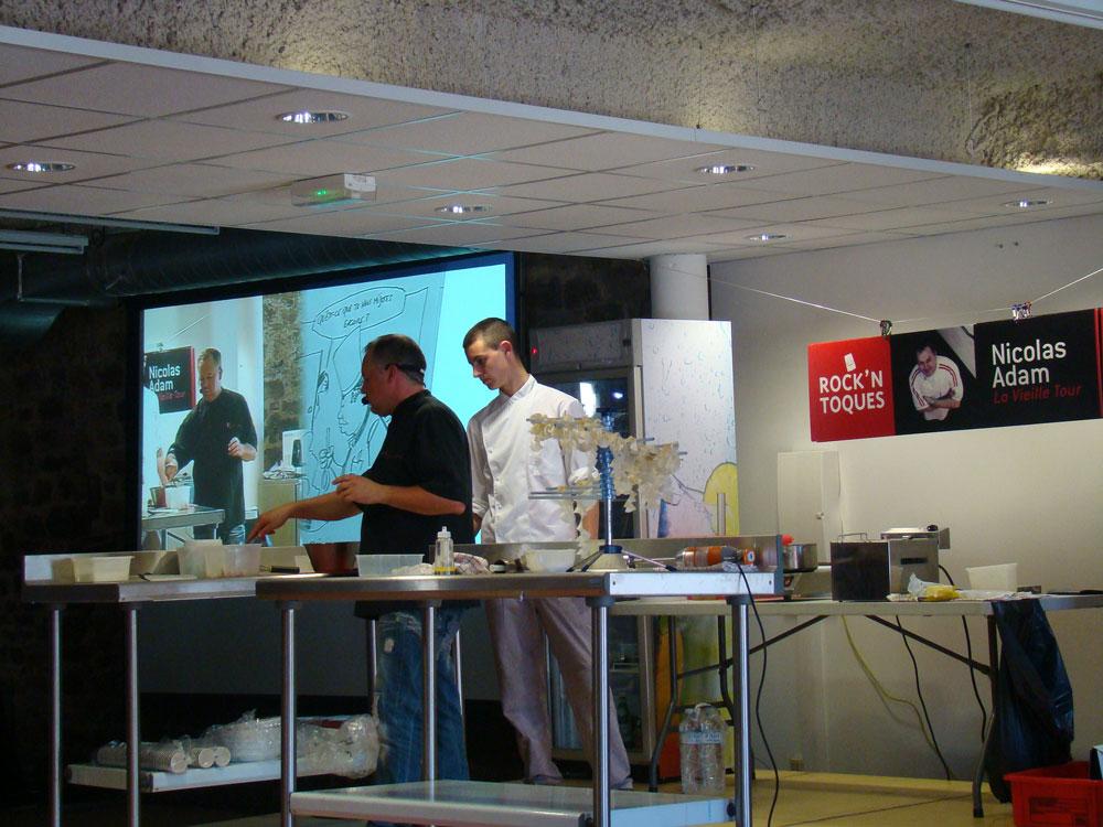 Démonstration culinaire par Nicolas Adam