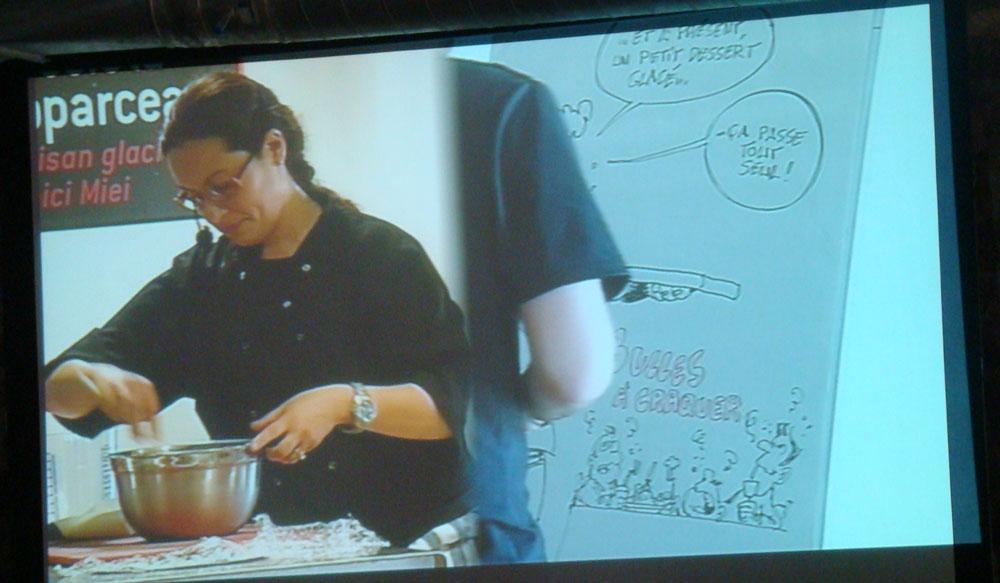 Démonstration culinaire par Nicoletta, avec Laurent Bordier
