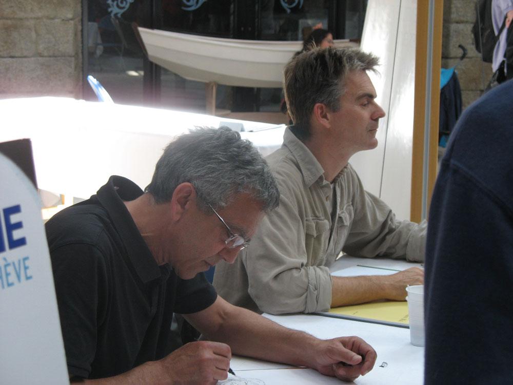 Lucien Rollin et Emmanuel Lepage en dédicace