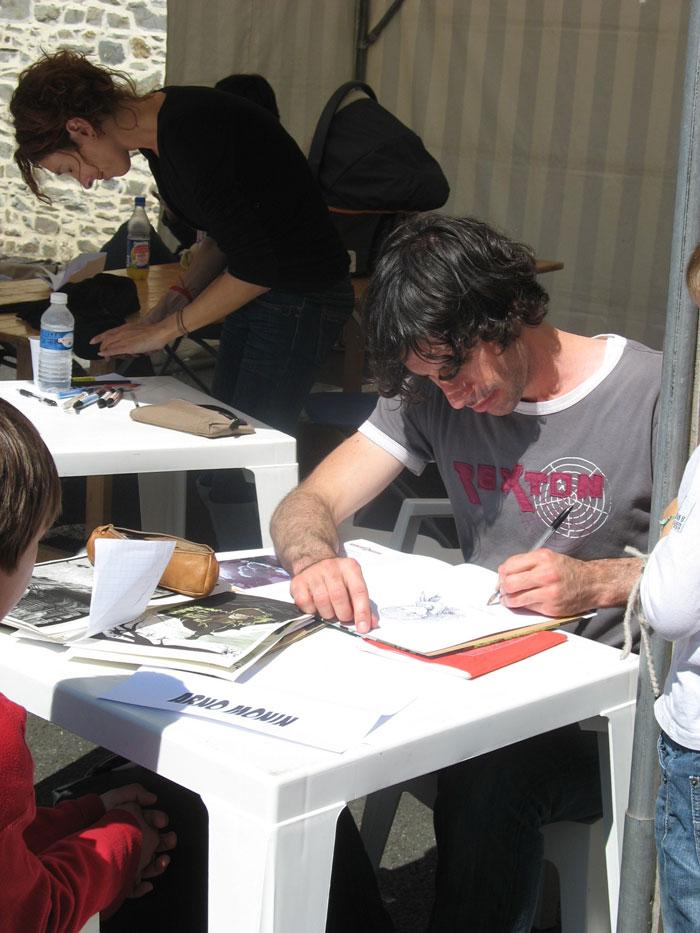 Anne Rouvin et Arno Monin en dédicace