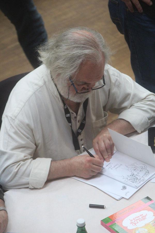Michel Pichon en dédicace