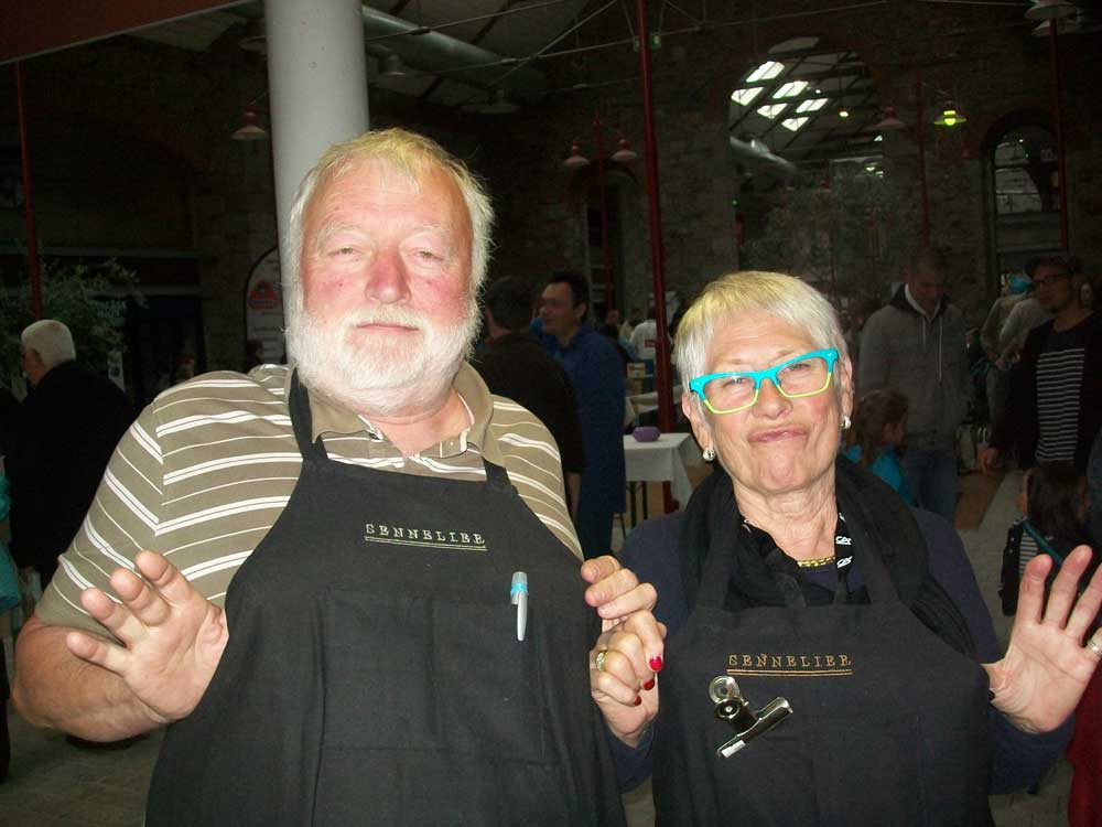 Daniel Fuchs (la bouquinerie) et Claude Mendzat (Art Val)