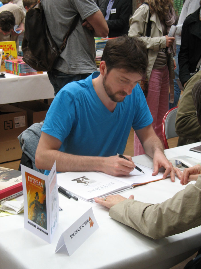 Mathieu Bonhomme en dédicace