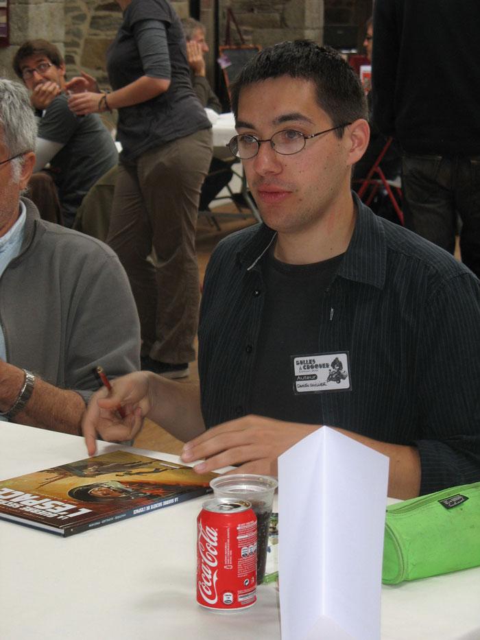 Damien Cuvillier en dédicace