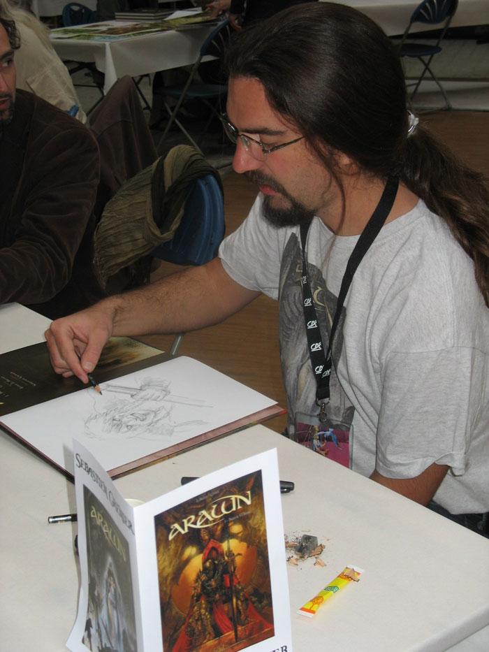 Sébastien Grenier en dédicace