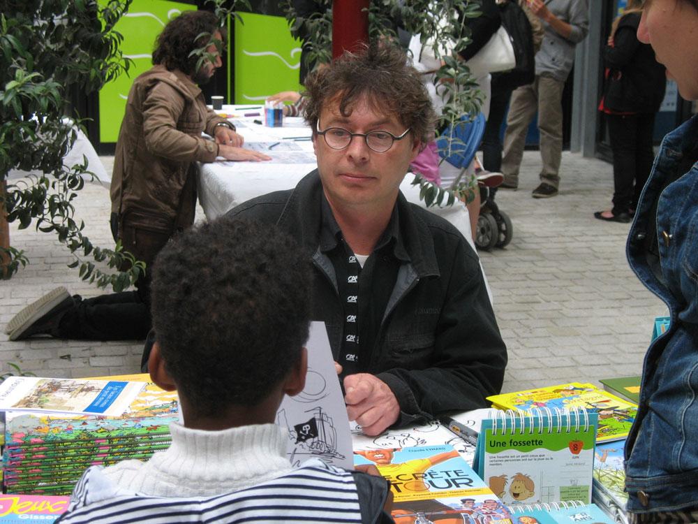 Christophe Lazé en dédicace