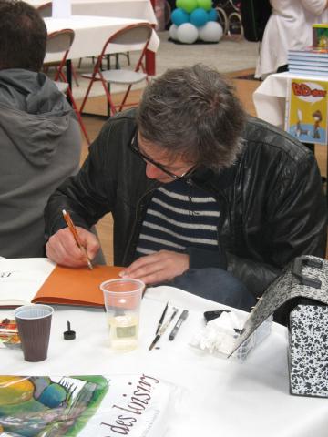 Stéphane Oiry en dédicace