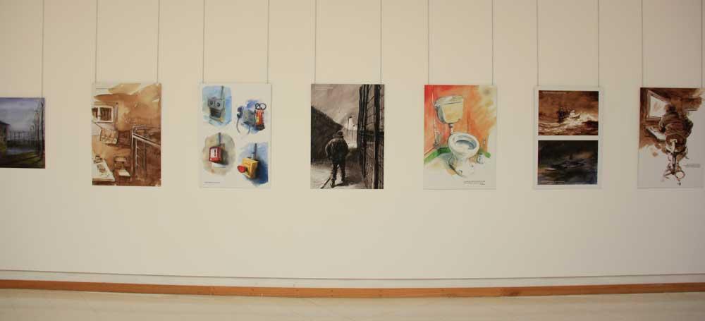L'exposition Carnets de prison, par Gildas Chasseboeuf