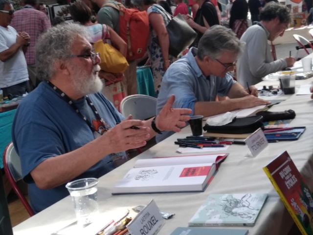 Jean-Claude Fournier et Emmanuel Lepage en dédicace